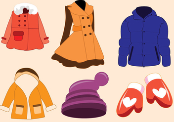 Winter Coat Vector - vector gratuit #357715
