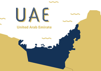 UAE Map Vector - vector #357755 gratis