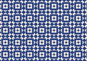 Blue Geometric Pattern Background - vector gratuit #357775