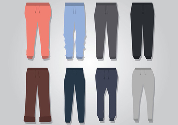 Sweatpants Vector - vector #357995 gratis