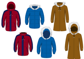 Winter Jacket Vector Set - бесплатный vector #358025