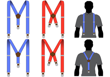 Men's Suspenders Vectors - бесплатный vector #358035