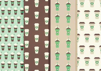 Free Coffee Vector Patterns - бесплатный vector #358125
