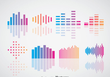 Sound Bars Vector Sets - Kostenloses vector #358145