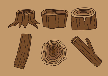Wood Logs Vector - vector #358205 gratis