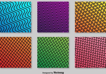 Retro ZigZag Vector Patterns - vector gratuit #358215