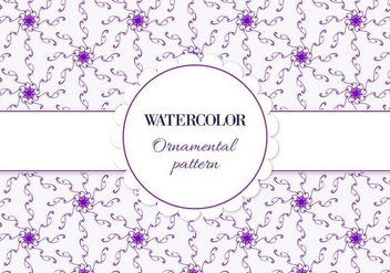 Free Vector Watercolor Ornamental Pattern - Free vector #358245