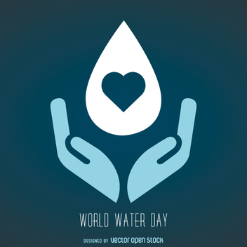 World Water day symbol - Kostenloses vector #358325