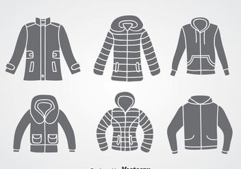 Winter Coat Vector Sets - Free vector #358375