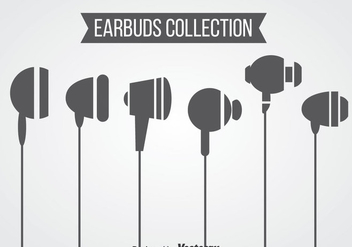 Ear buds Collection Vector - бесплатный vector #358395