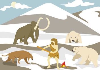 Ice Age Illustration Vector - Free vector #358435