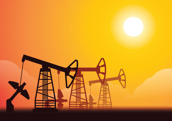 Oil Field Ilustration - Free vector #358515