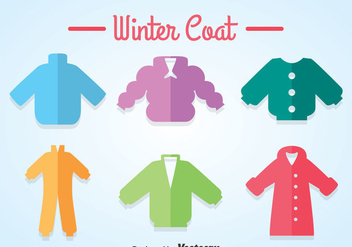 Colorful Winter Coat Icons - vector #358575 gratis