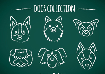 Dogs Chalk Draw Icons - vector gratuit #358585