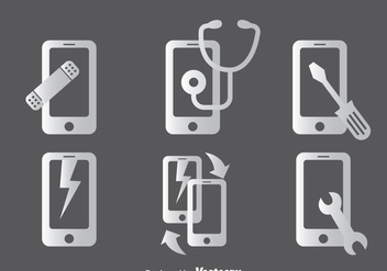 Phone Repair Icons Sets - Free vector #358605
