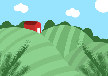 Rice Field Vector - vector #358685 gratis