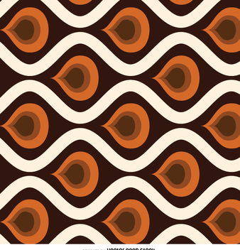 Retro abstract tile pattern - vector gratuit #358725