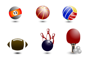 Ball Icons Vector - vector gratuit #358845