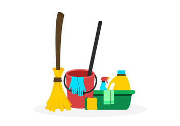 Spring Cleaning Vectors - vector gratuit #358855