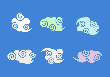 Free Chinese Clouds Vector Pack - Kostenloses vector #358925