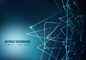 Free Blue Abstract Vector Background - Free vector #358945