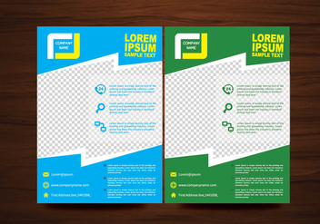 Vector Brochure Flyer Layout Template - vector gratuit #358955
