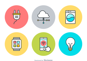 Free Internet Of Things Vector Icons - vector gratuit #359055