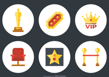 Free Flat Movie Vector Icons - vector gratuit #359275