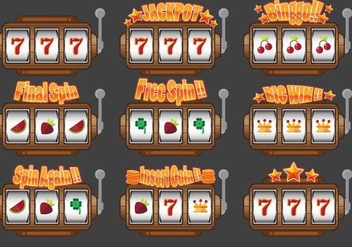 Slot Machine UI Design - vector #359315 gratis