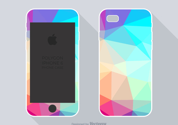 Free Polygon Phone Case Vector - vector gratuit #359335