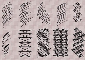 Crosshatch Vector - vector #359355 gratis