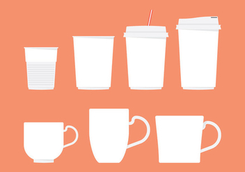 Coffee Sleeve And Cup Vectors - Free vector #359465