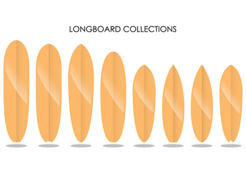 Longboard Collections - vector #359475 gratis