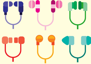 Ear Buds Vector - Free vector #359575