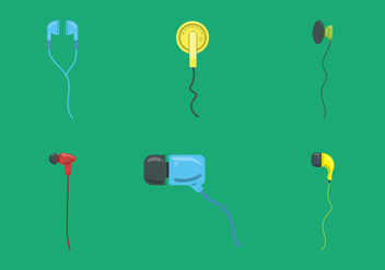 Free Ear Buds Vector Illustration - vector #359605 gratis