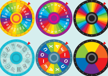 Colorful Spin Wheel Vectors - Kostenloses vector #359755