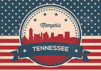 Memphis Tennessee Skyline Illustration - Free vector #359775