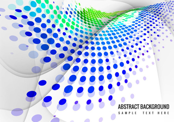 Free Colorful Halftone Wave Background Vector - vector gratuit #359935