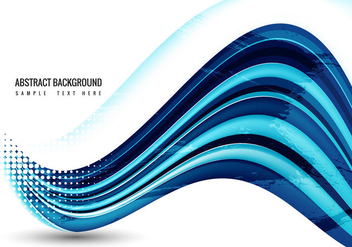 Free Blue Wave Vector - Free vector #360005