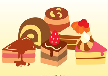Assorted Cake Vectors - Free vector #360015
