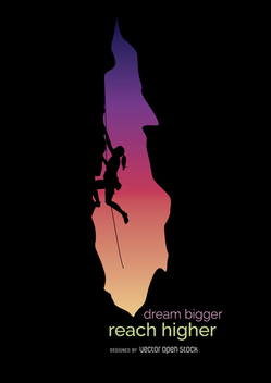 Climbing motivation metaphor - Kostenloses vector #360035