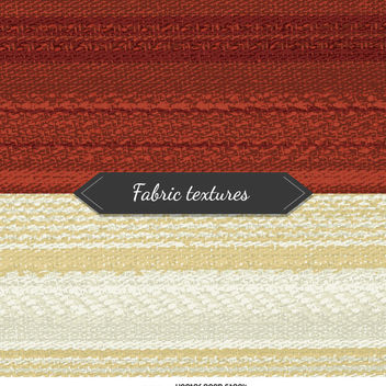 2 fabric textures in red and beige tones - vector gratuit #360055