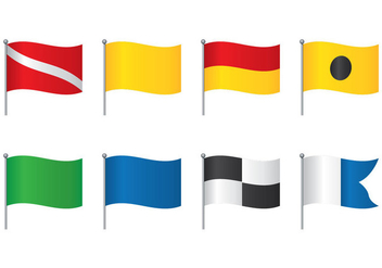 Dive Flag Set - vector #360125 gratis