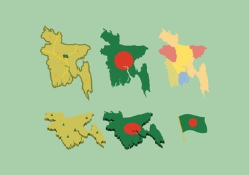FREE BANGLADESH MAP VECTOR - бесплатный vector #360175