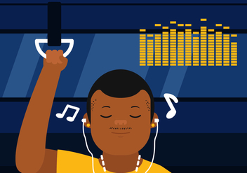 Vector Listening to Music - Free vector #360215