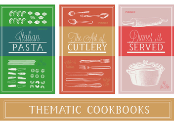 Free Various Thematic Cookbooks Vector Background - Free vector #360295