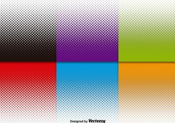 Vector Halftone Backgrounds Set - Free vector #360395