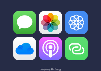 Free Vector Mobile App Icons - vector #360515 gratis