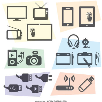 Technology vectors set - vector gratuit #360525
