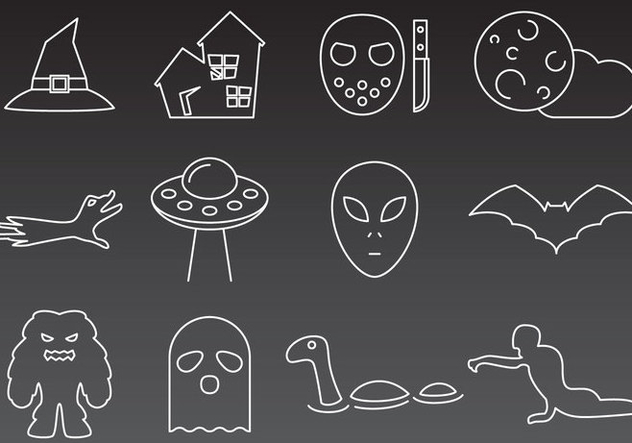 Monsters And Mystery Icons - vector gratuit #360615